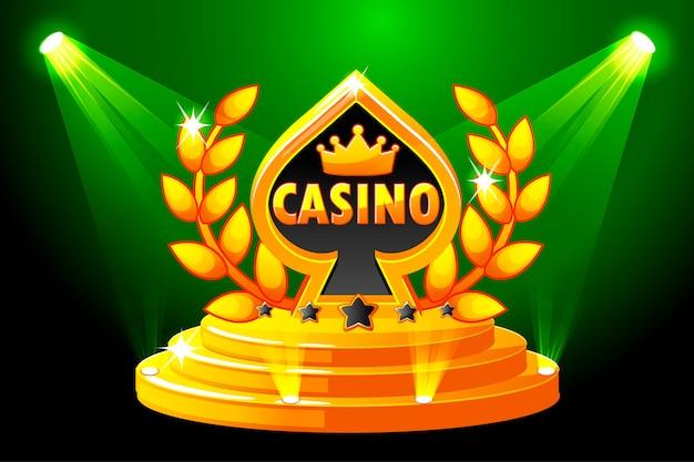 Casino e símbolo de baralho