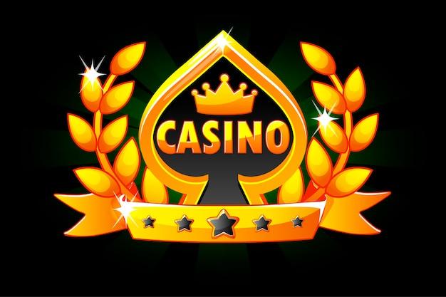 Casino e símbolo de cartão de jogo.