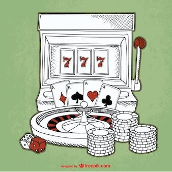 Casino esboço fundo