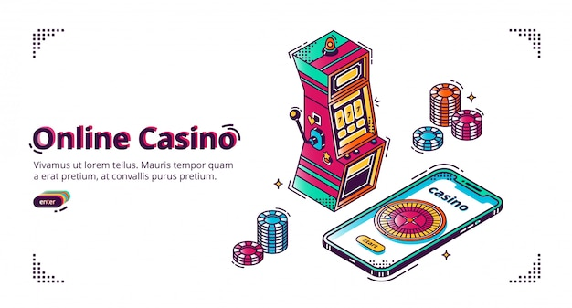 Casino online móvel para banner de smartphone