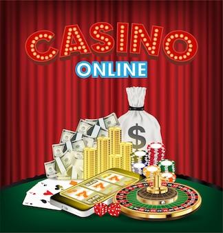 Casino online smartphone com roleta de dados