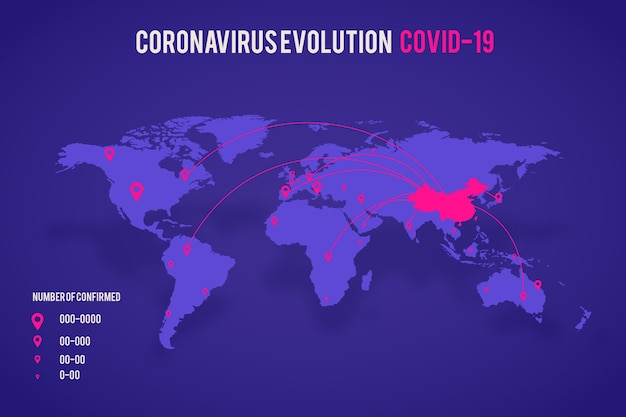 Casos de mapa de coronavírus