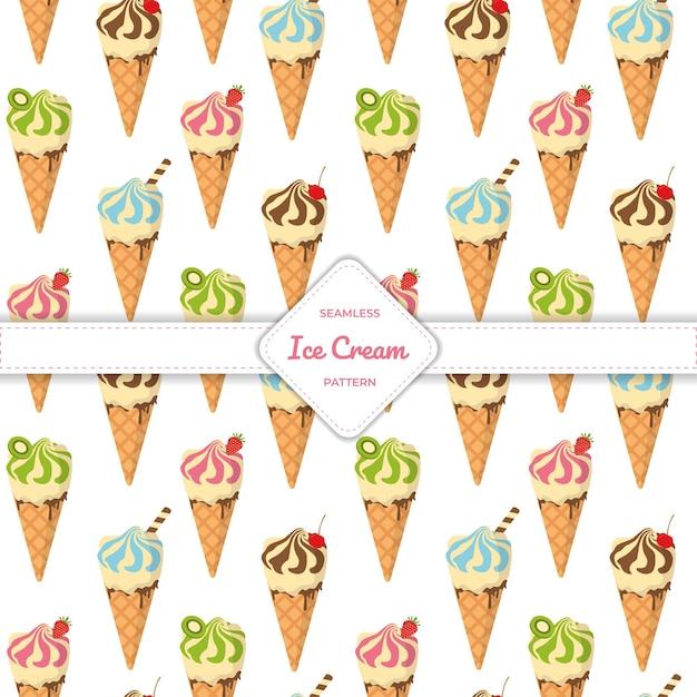 Casquinha de sorvete de padrão uniforme