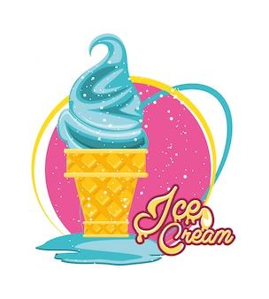 Casquinha de sorvete delicioso