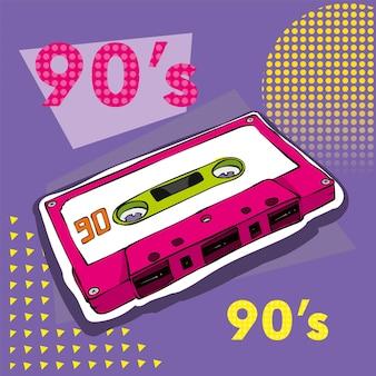 Cassete audio retro