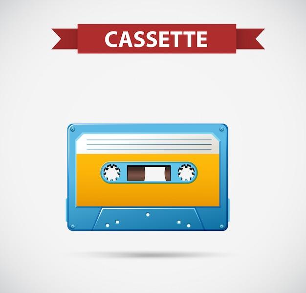 Cassete de fita como ícone retrô