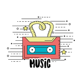 Cassete para ouvir e tocar música