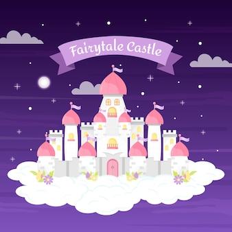 Castelo de conto de fadas criativo