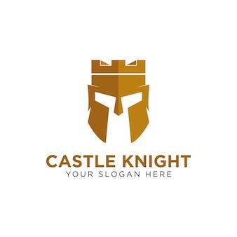 Castelo de inspiração e logotipo espartano