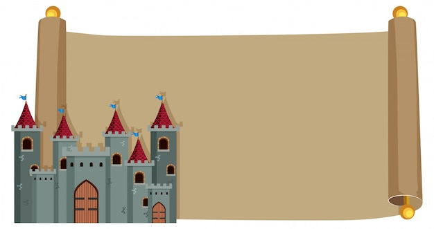 Castelo em papel vintage