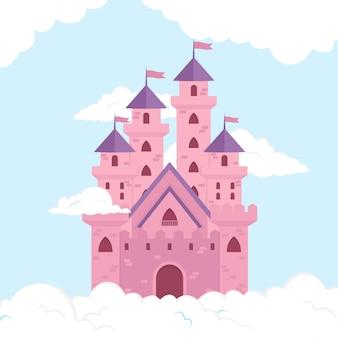 Castelo mágico de conto de fadas