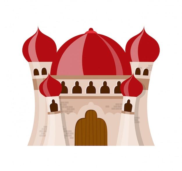 Castelo medieval de fada em estilo cartoon