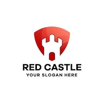Castle gradient logo design