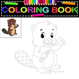 Castor livro para colorir