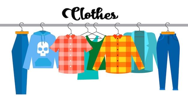 Casual clothes hipster shirt coleção show room shop
