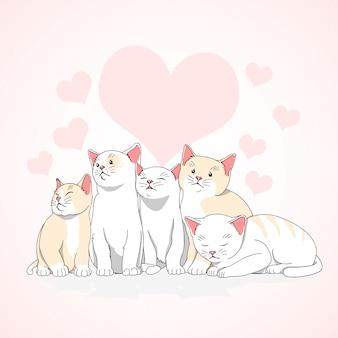 Cat love bonito