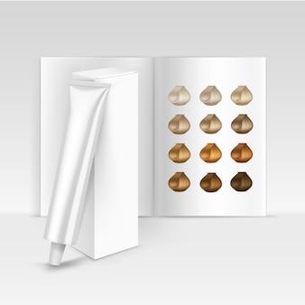 Catálogo da paleta da caixa de empacotamento da máscara da máscara do bálsamo do champô da tintura da cor do cabelo