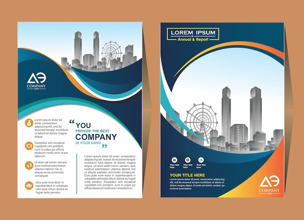 Catálogo de brochura de layout de capa agradável para relatório anual