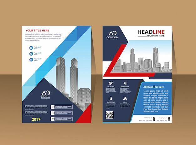 Catálogo de brochura de layout de capa para relatório anual