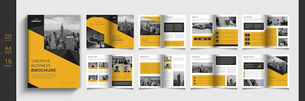 Catálogo de negócios moderno ou modelo de livreto