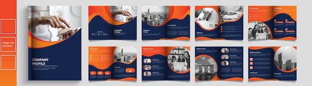 Catálogo de negócios modernos ou modelo de livreto