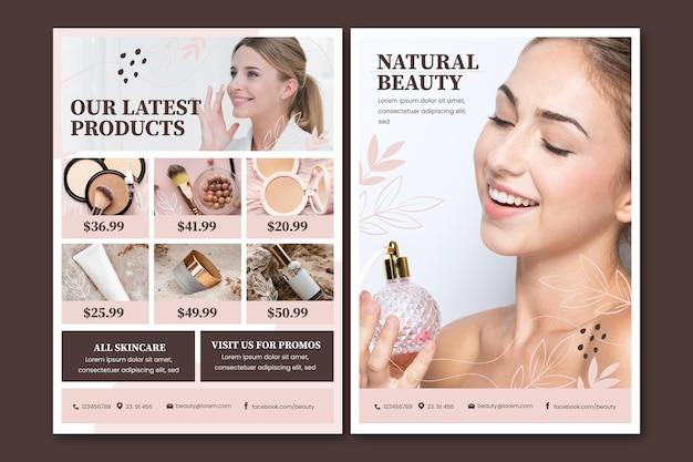 Catálogo de produtos de beleza em tons de gradiente