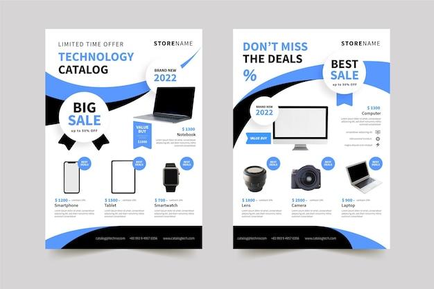 Catálogo de produtos de tecnologia plana