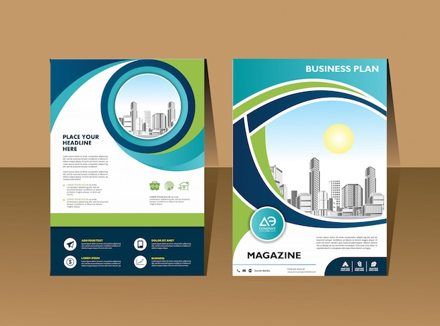 Catálogo de revistas de layout de capa para relatório anual
