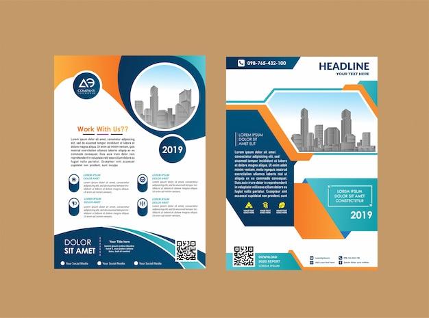 Catálogo de revistas em brochura para relatório anual