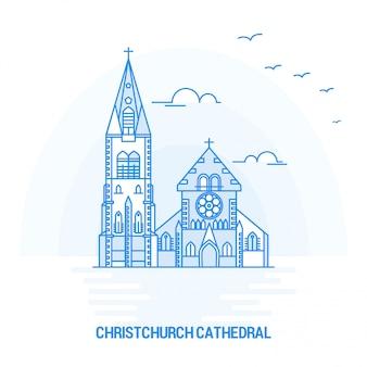 Catedral de christchurch blue landmark