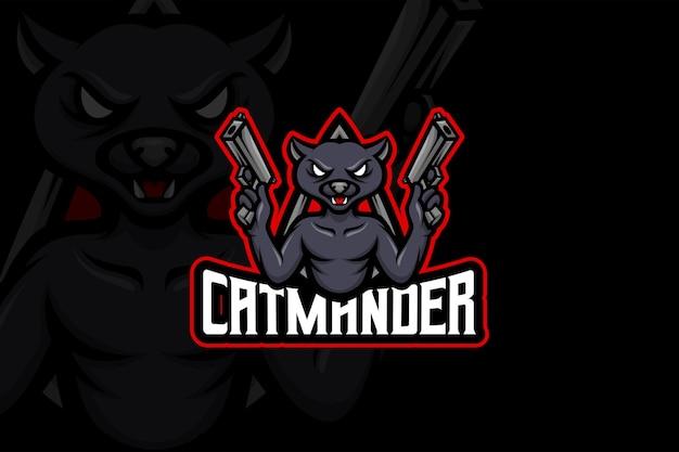 Catmander - modelo de logotipo esport