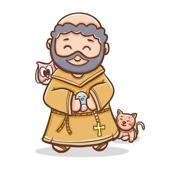 Católico são francisco de assis   Vetor Grátis