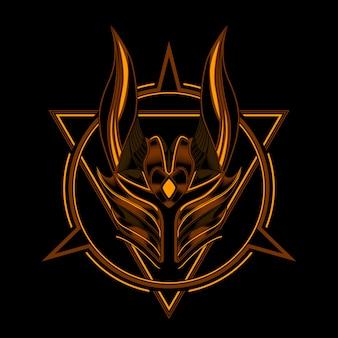 Cavaleiro capacete demônio