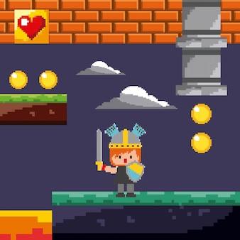 Cavaleiro do jogo de pixel
