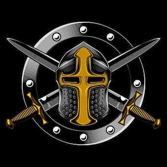 Cavaleiro e espada cruzada