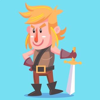 Cavaleiro, vetorial, ilustração