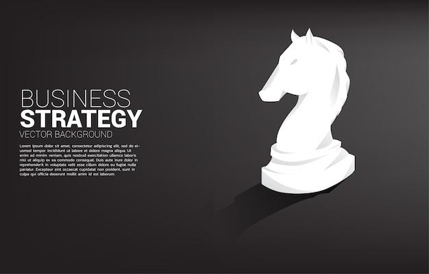 Cavaleiro xadrez peça 3d silhueta.