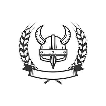 Cavaleiros. modelo de emblema com capacete de cavaleiro medieval. elemento para o logotipo, etiqueta, emblema, sinal. ilustração