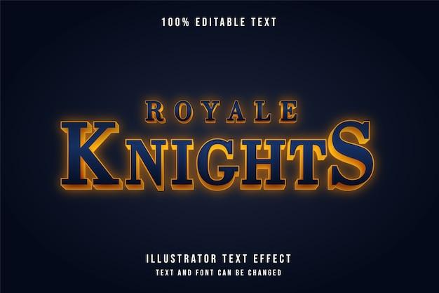 Cavaleiros royale, efeito de texto editável 3d.
