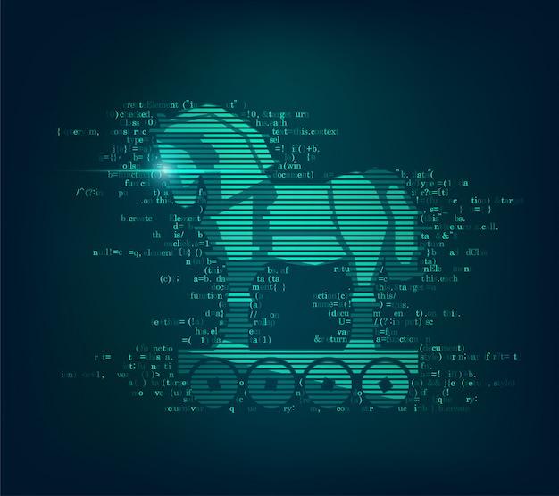 Cavalo de tróia de vírus de computador
