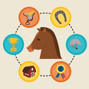 Cavalo, desenho, ilustração