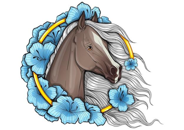 Cavalo em flor