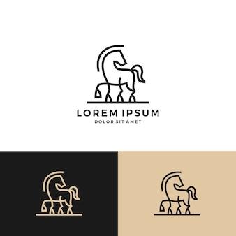 Cavalo logotipo vetor ícone linha arte descrições download
