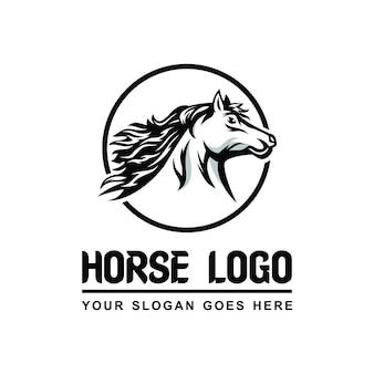 Cavalo logotipo vetor