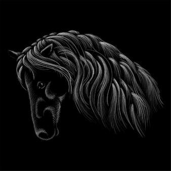 Cavalo para impressão outwear t-shirt. cavalo de estilo de caça.