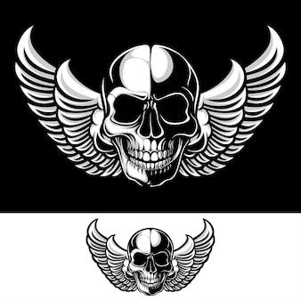 Caveira com asas