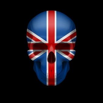 Caveira com bandeira britânica