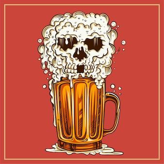 Caveira de cerveja