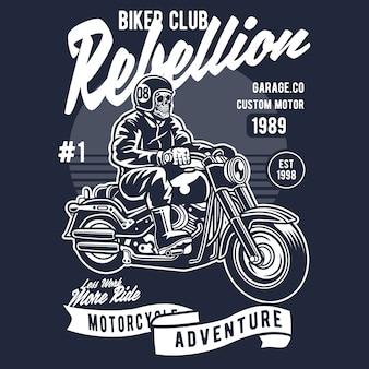 Caveira de motociclista