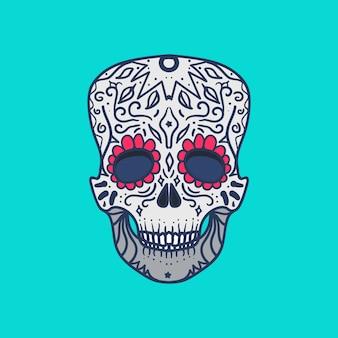 Caveira detalhada mexicana